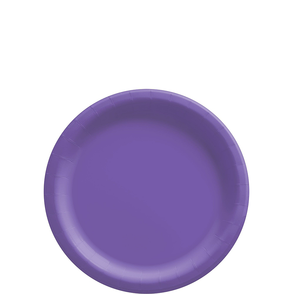 Purple Paper Tableware Kit for 50 Guests Image #2