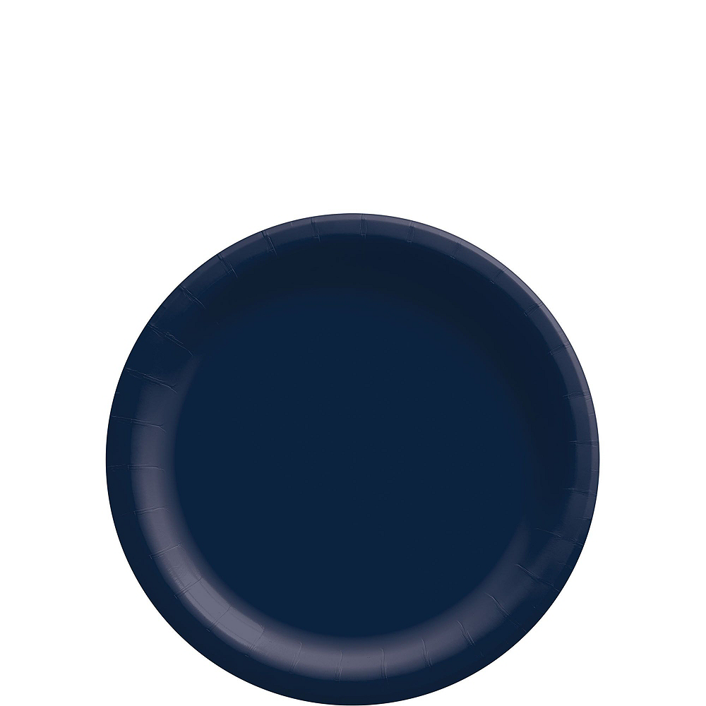 True Navy Paper Tableware Kit for 50 Guests Image #2