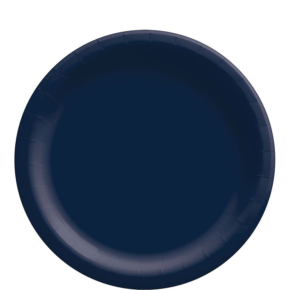 True Navy Paper Tableware Kit for 50 Guests Image #3
