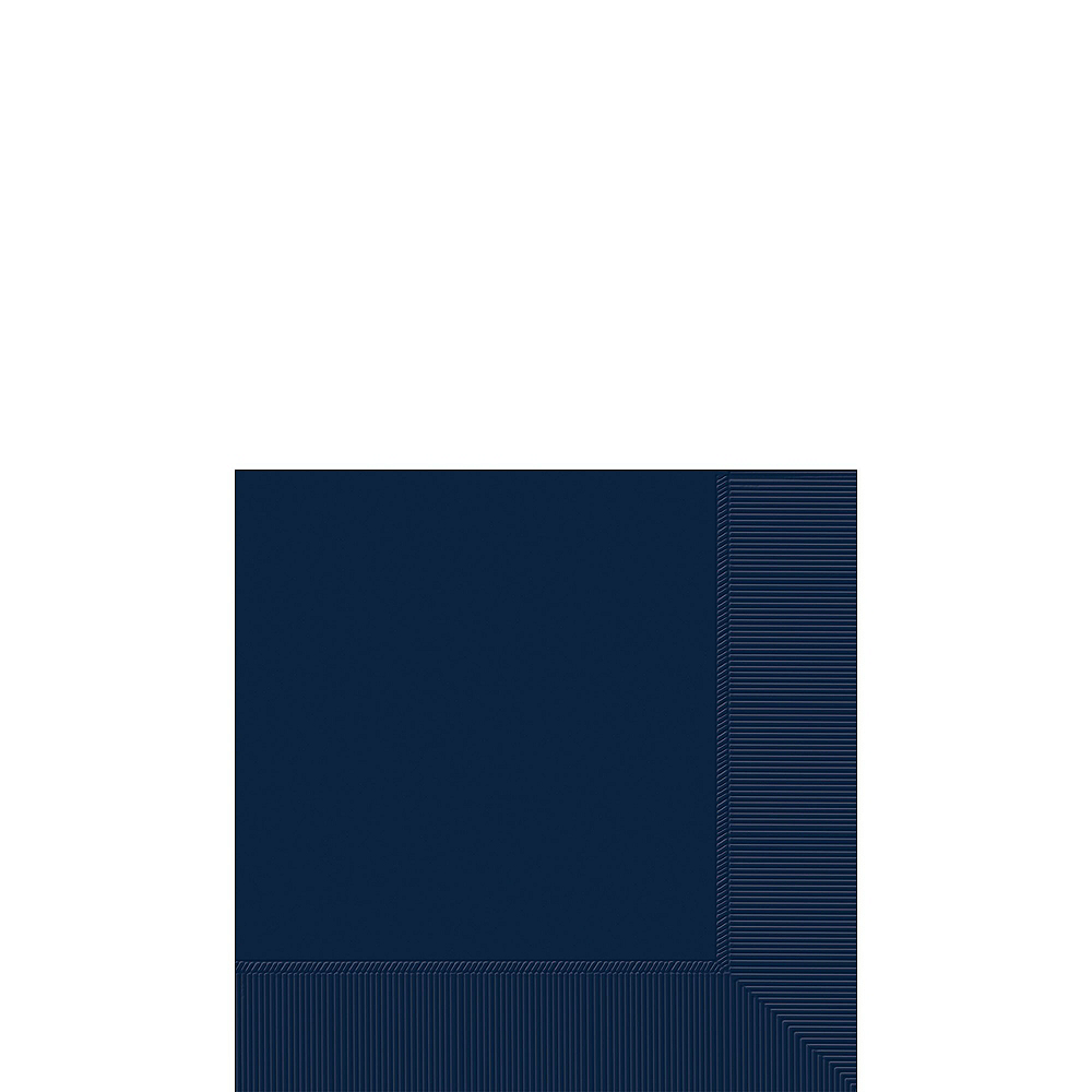 True Navy Paper Tableware Kit for 50 Guests Image #4
