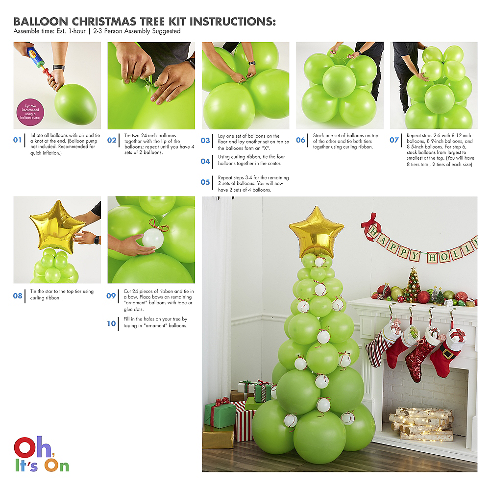 Green Balloon Christmas Tree Kit Image #2
