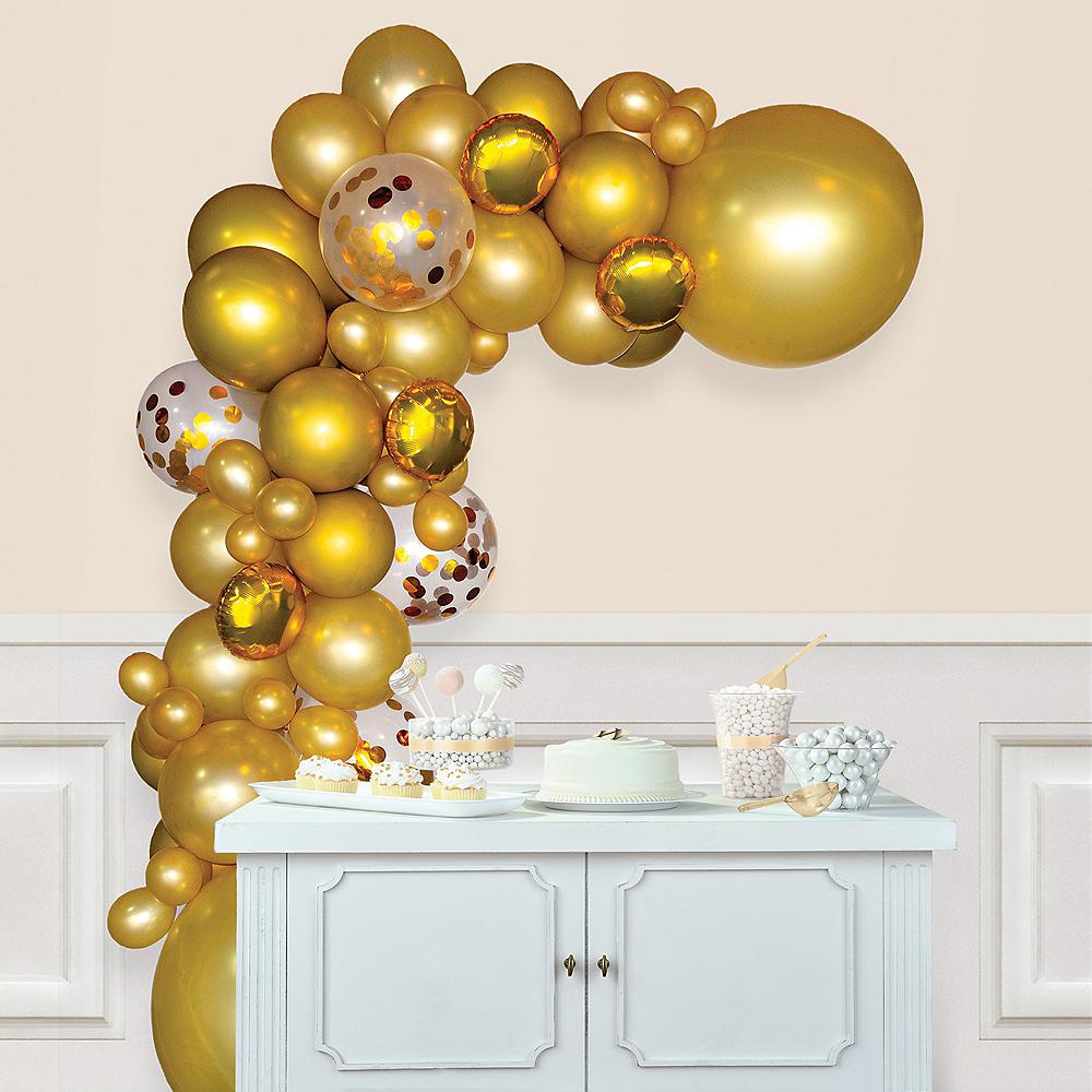 Air-Filled Gold Balloon Garland Kit Image #1