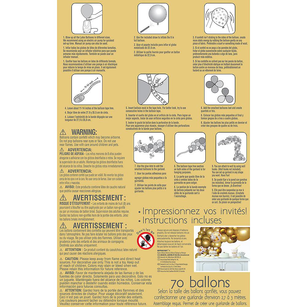 Air-Filled Gold Balloon Garland Kit Image #3