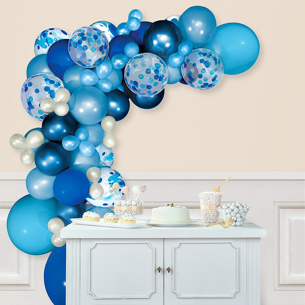 Air-Filled Blue Balloon Garland Kit Image #1