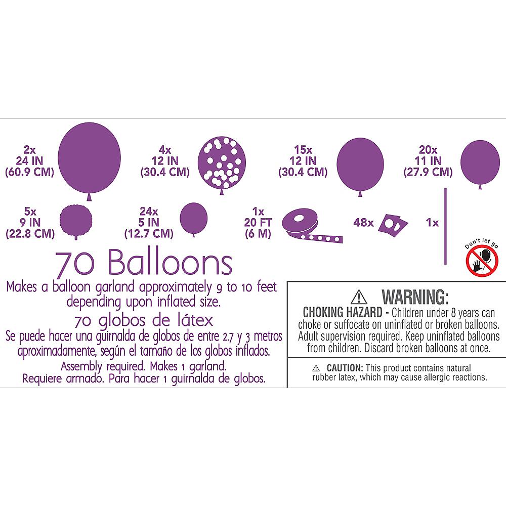 Air-Filled Pink Balloon Garland Kit Image #4