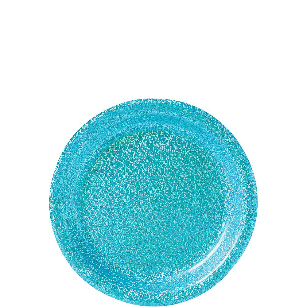 Prismatic Caribbean Blue Dessert Plates, 6.75in, 8ct Image #1