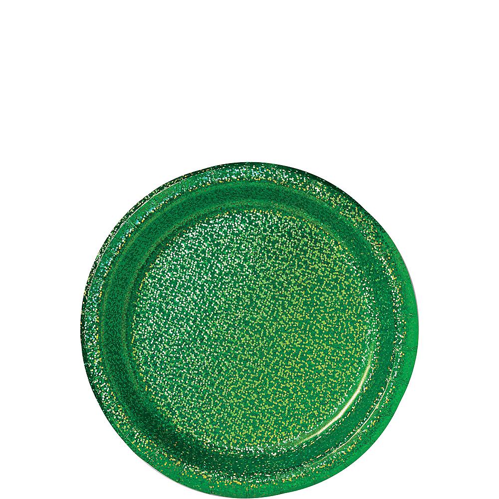 Prismatic Festive Green Dessert Plates, 6.75in, 8ct Image #1