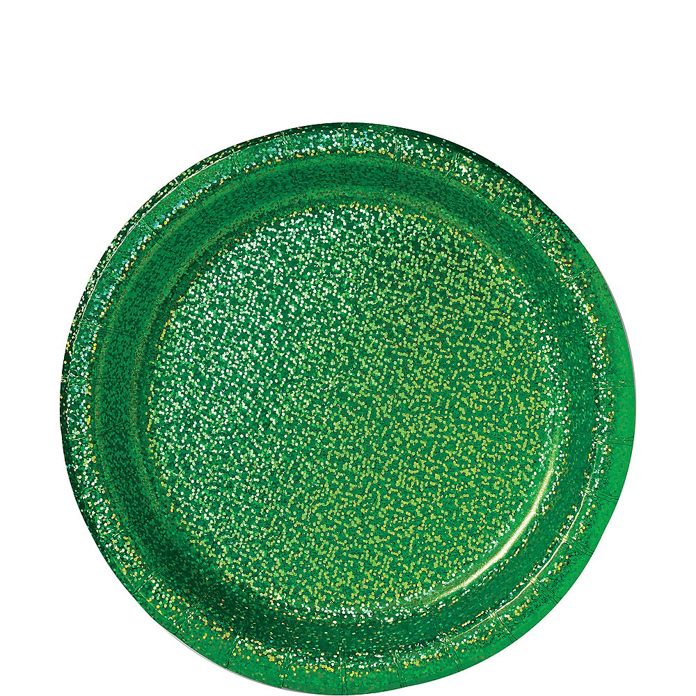 Prismatic Festive Green Lunch Plates, 8.5in, 8ct Image #1