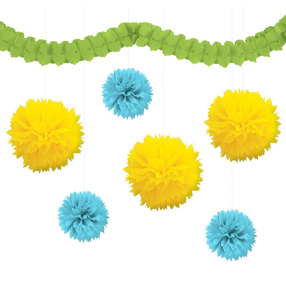 Caribbean Blue, Green & Yellow Decorating Kit Image #1