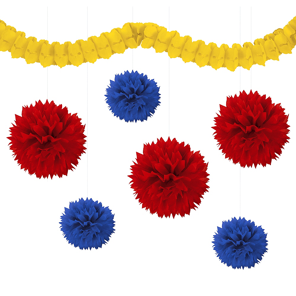 Red, Royal Blue & Yellow Decorating Kit Image #1