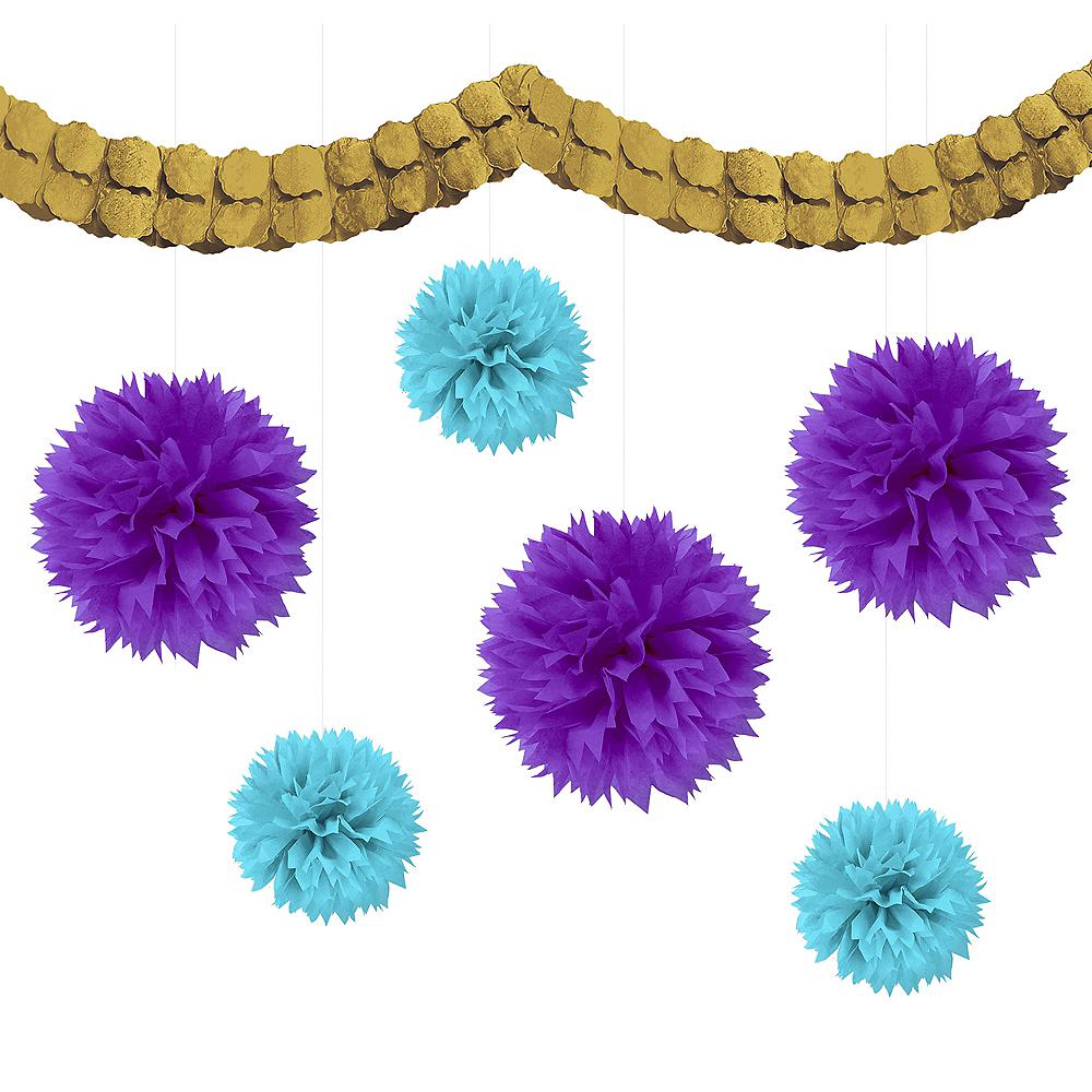Caribbean Blue, Gold & Purple Decorating Kit Image #1