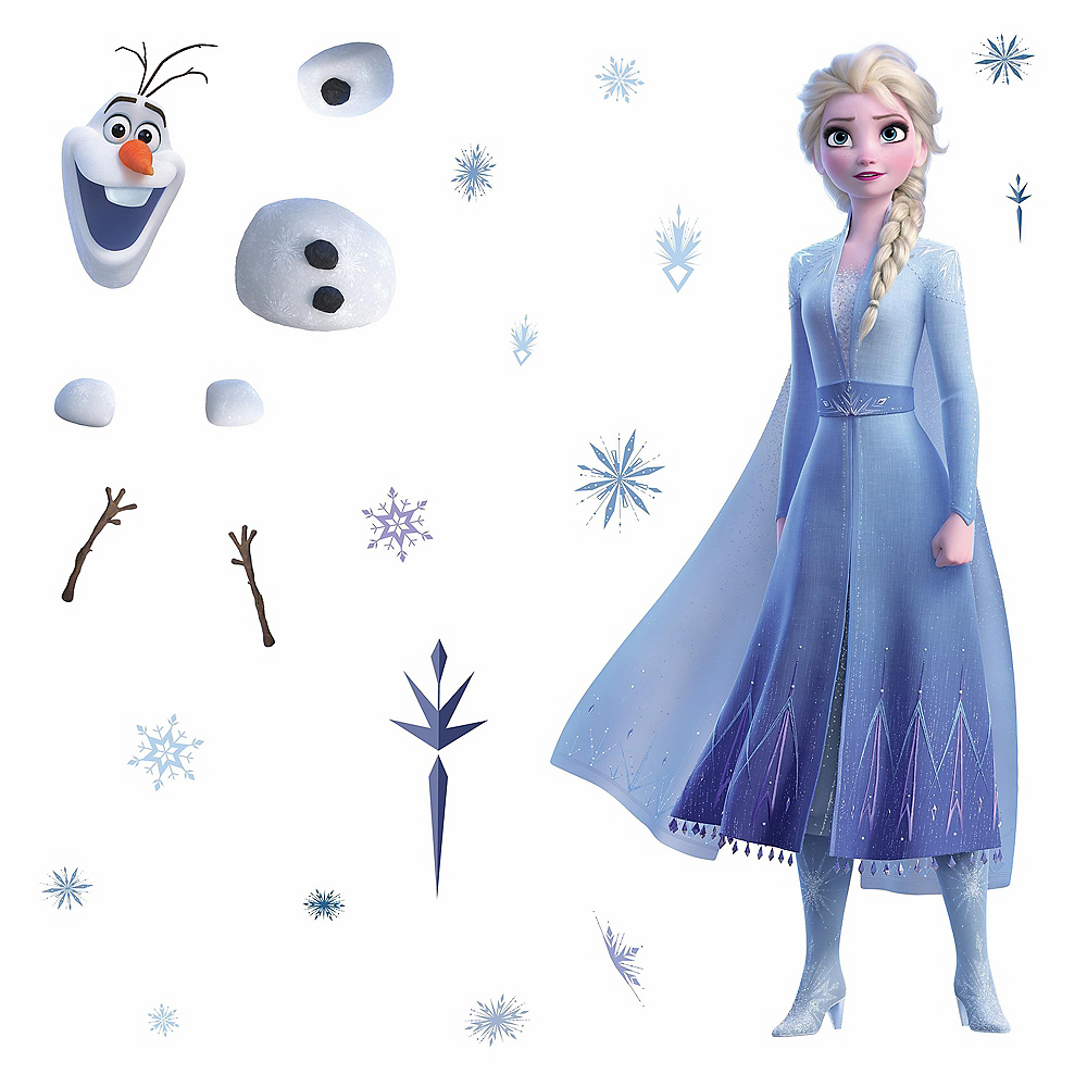 Elsa and Olaf Wall Decals – 26ct Frozen 2 Image #2