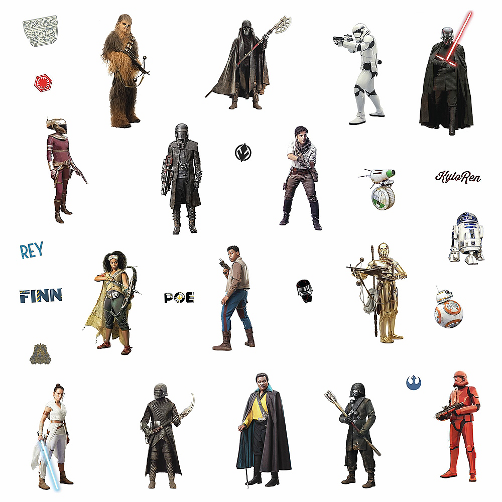 Star Wars: Episode IX Rise of Skywalker Wall Decals 28ct Image #2