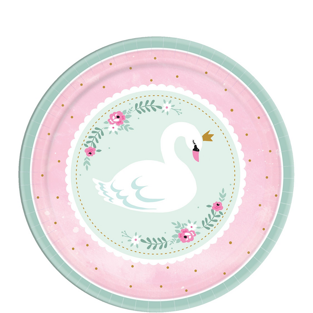 Sweet Swan Party Tableware Kit for 16 Guests Image #2