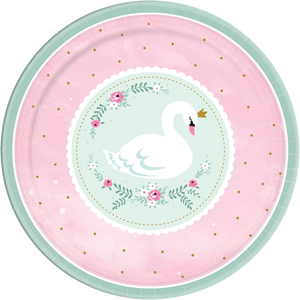 Sweet Swan Party Tableware Kit for 16 Guests Image #3