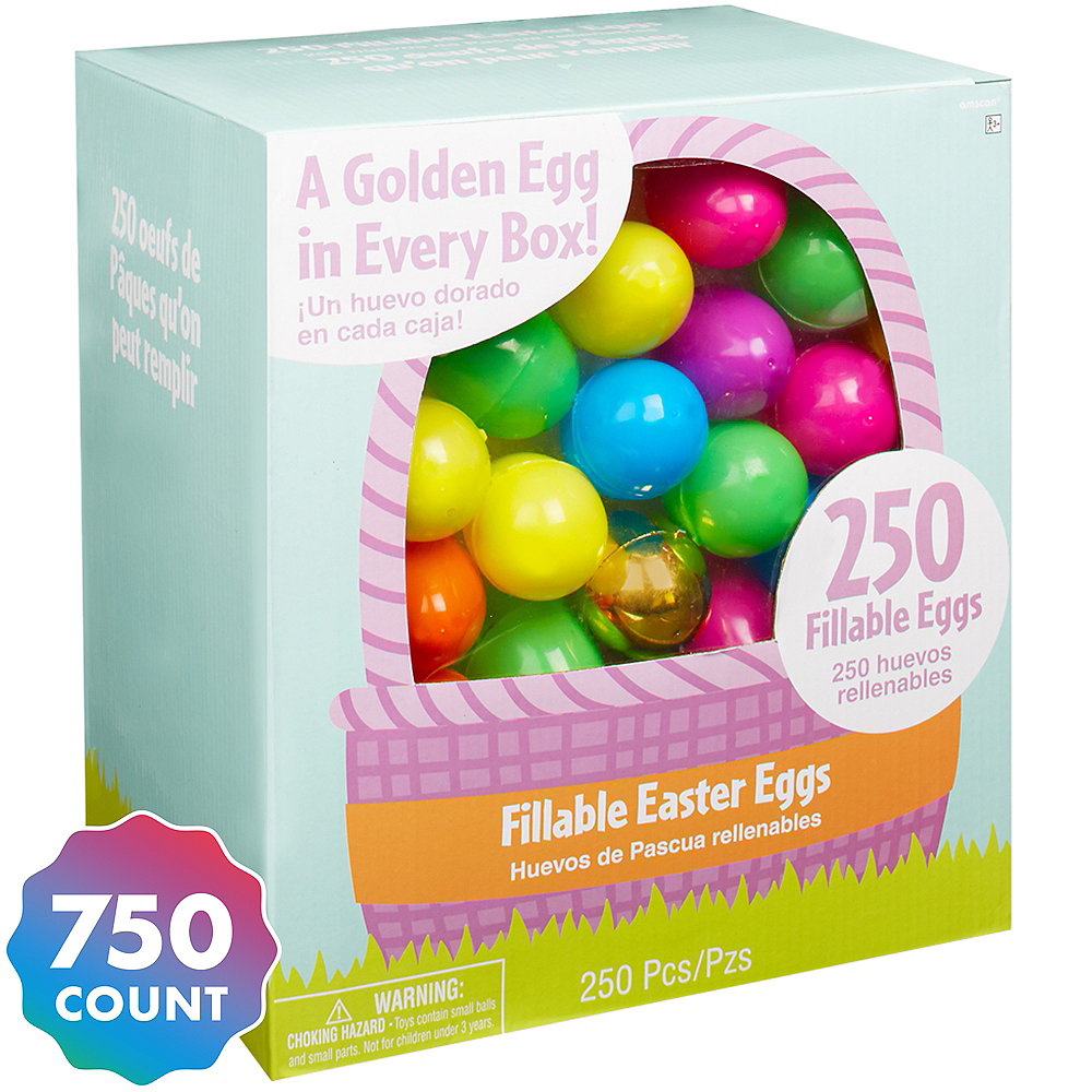 Fillable Easter Eggs 750ct Image #1