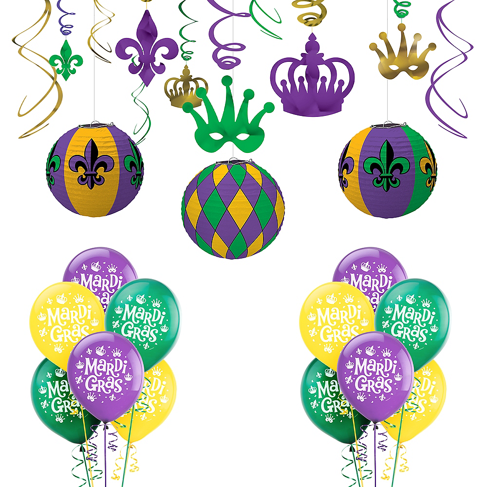 Mardi Gras Party Decorating Kit 30pc Image #1