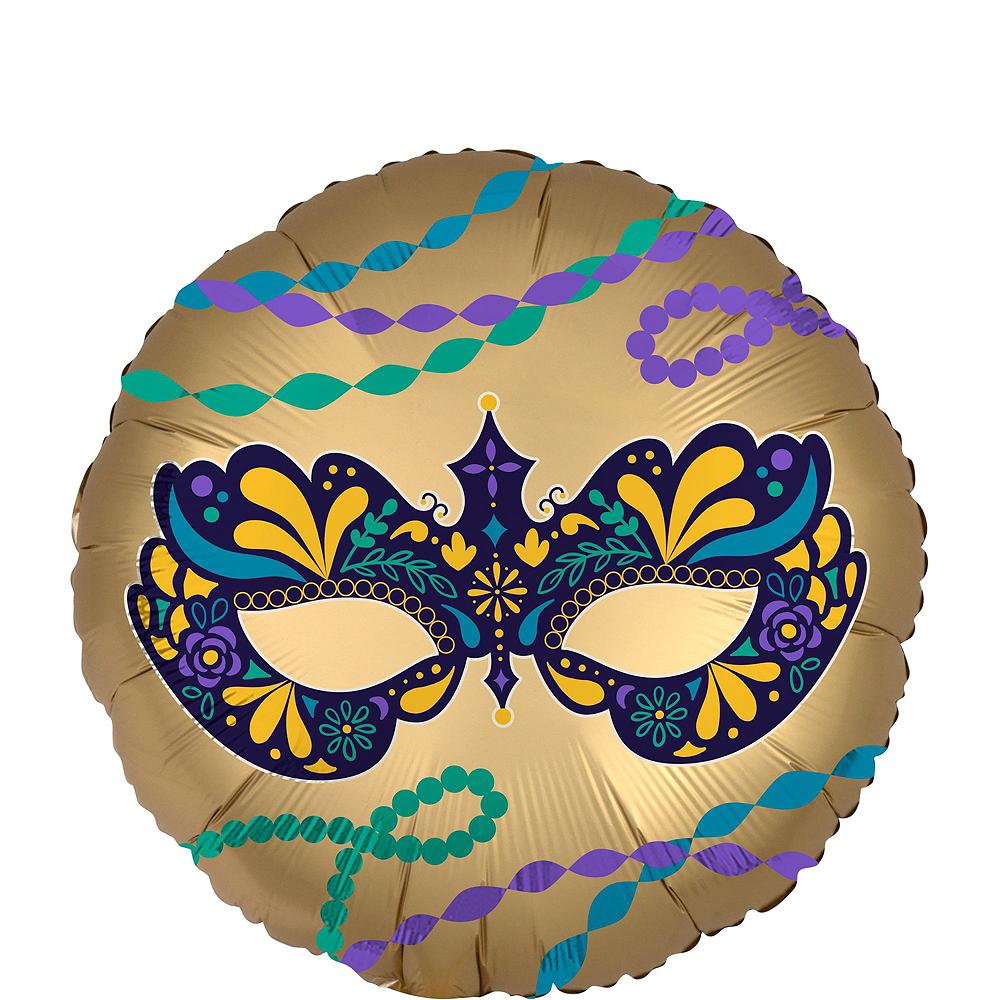 Mardi Gras Mask Balloon Bouquet Kit 5pc Image #6