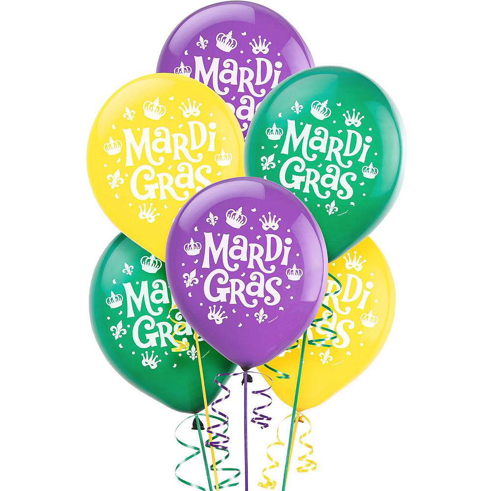 Mardi Gras Balloon Kit 18pc Image #2
