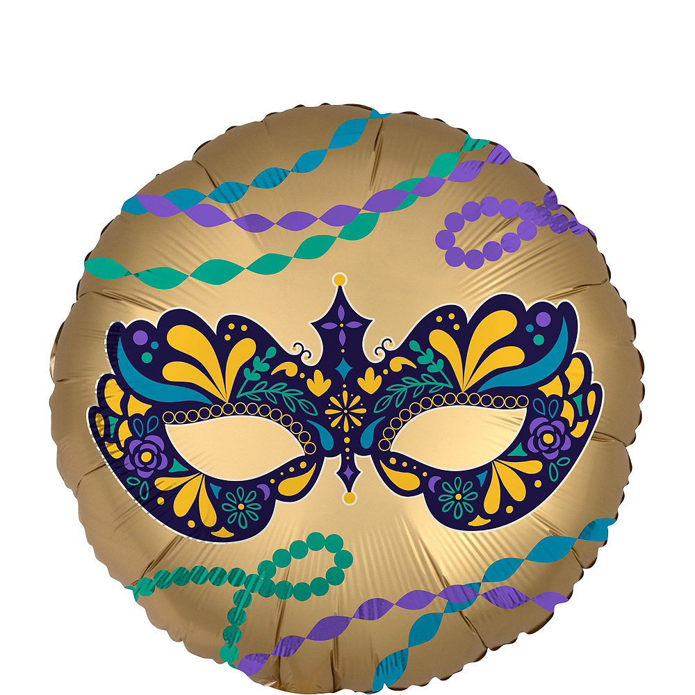 Mardi Gras Balloon Kit 18pc Image #5