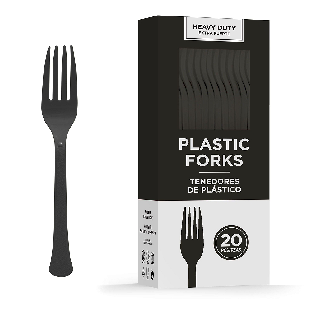 Black Plastic Tailgate Party Kit for 20 Guests Image #6