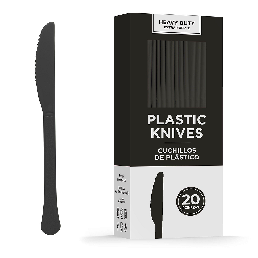 Black Plastic Tailgate Party Kit for 20 Guests Image #8