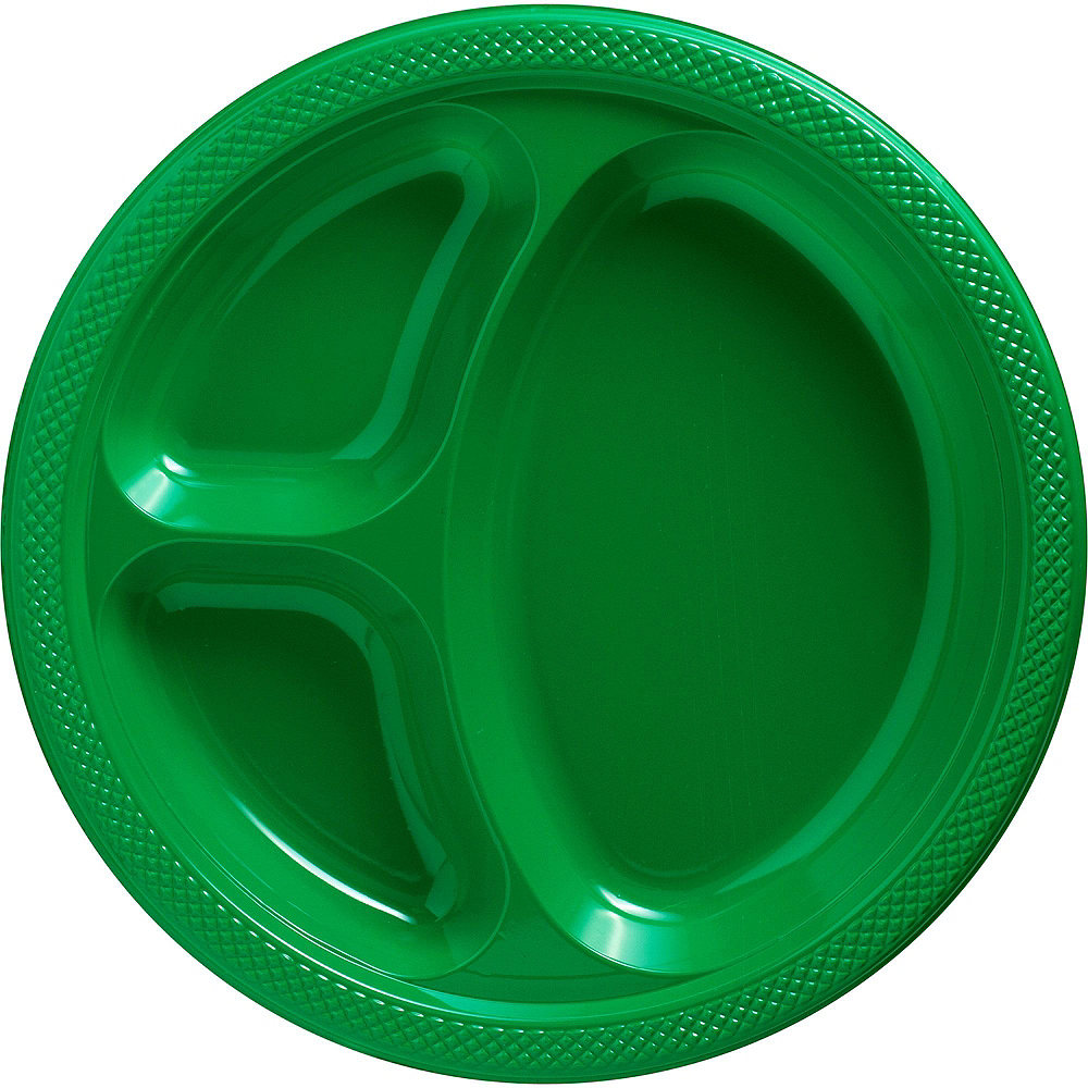 Festive Green Plastic Tailgate Party Kit for 20 Guests Image #2