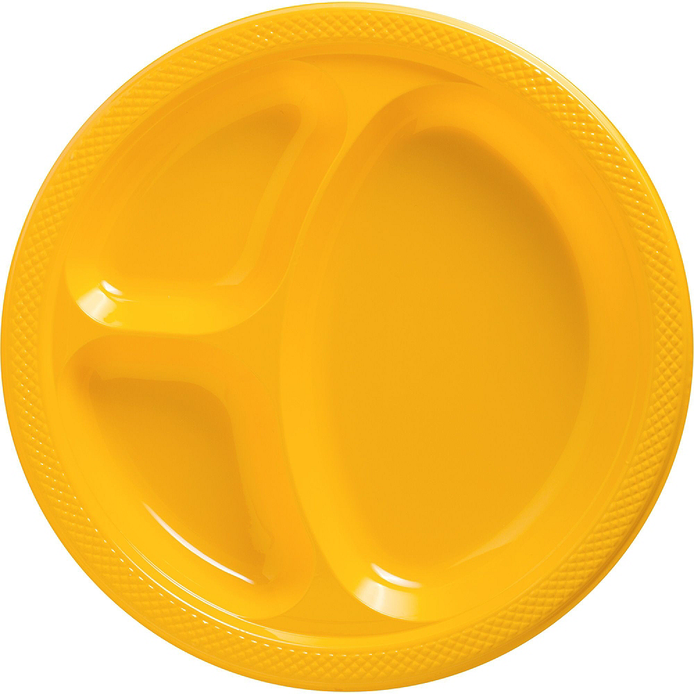 Yellow Plastic Tailgate Party Kit for 20 Guests Image #2