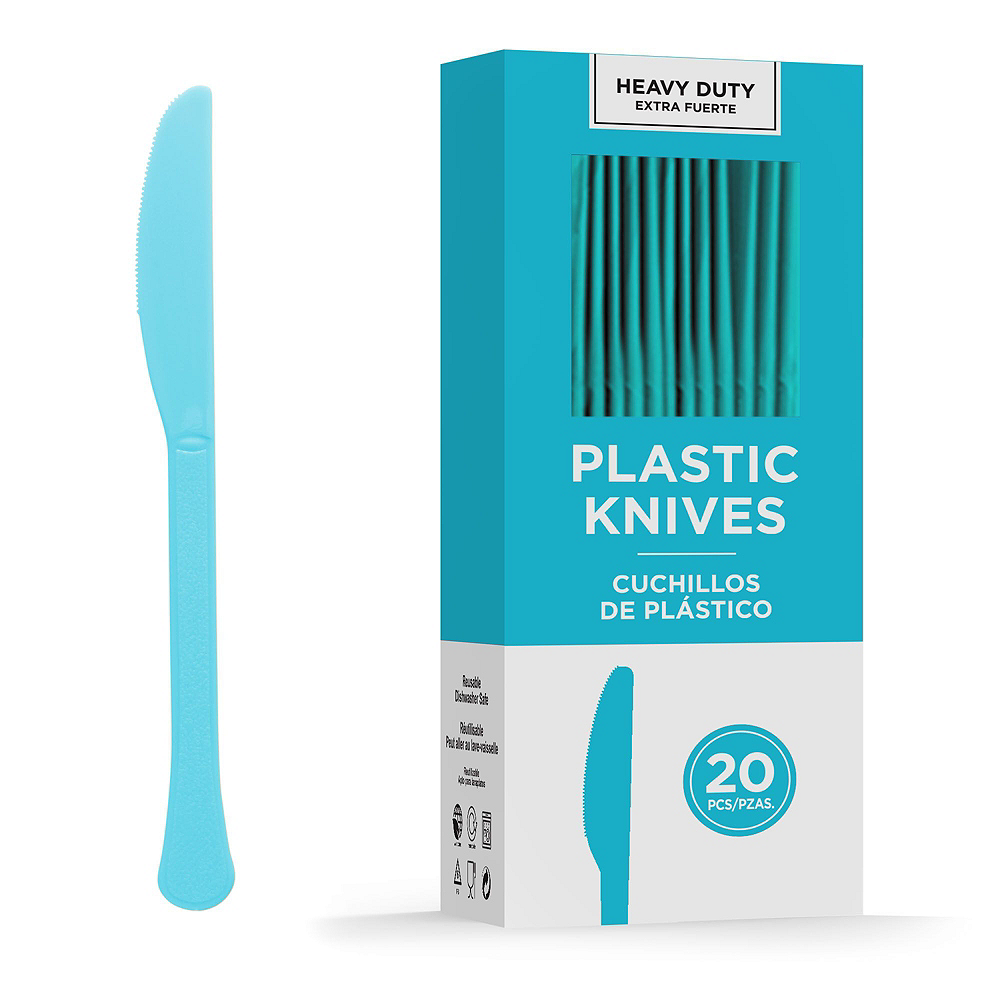 Caribbean Blue Plastic Tailgate Party Kit for 20 Guests Image #8