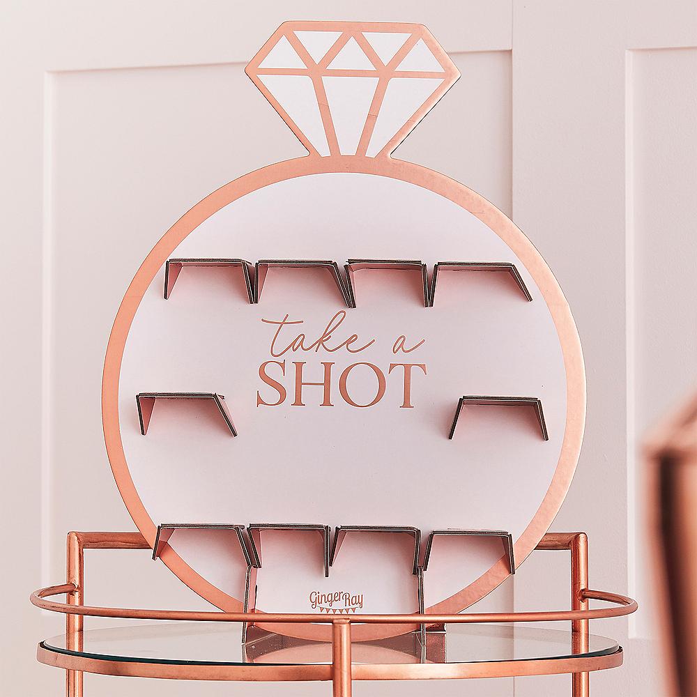 Ginger Ray Blush & Metallic Rose Gold Ring Shot Wall Kit Image #1