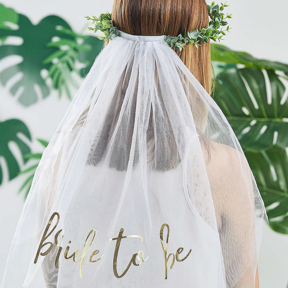 Ginger Ray Eucalyptus Bride-To-Be Veil Image #1