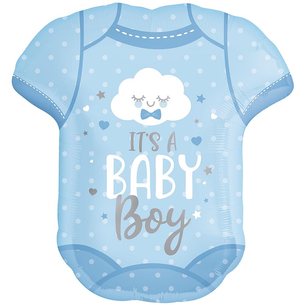 Blue It's A Baby Boy Bodysuit Balloon, 24in Image #1
