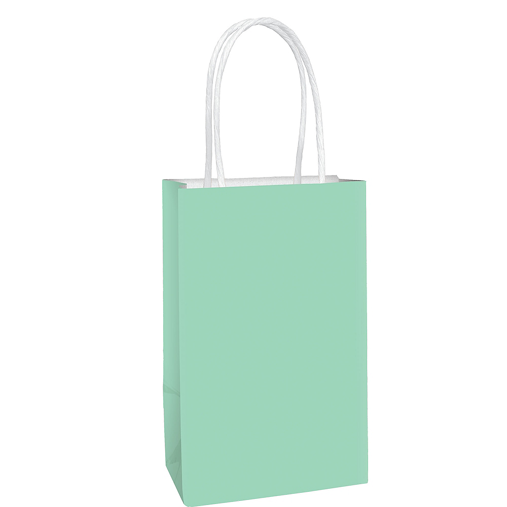 Small Mint Green Gift Bag 5 1/4in x 8 1/4in Image #1