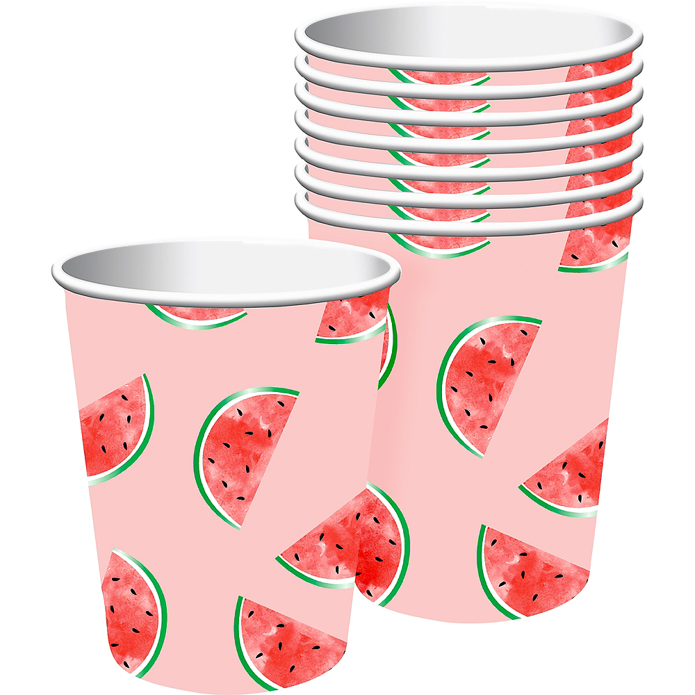 One in a Melon 1st Birthday Paper Cups, 9oz, 8ct Image #1
