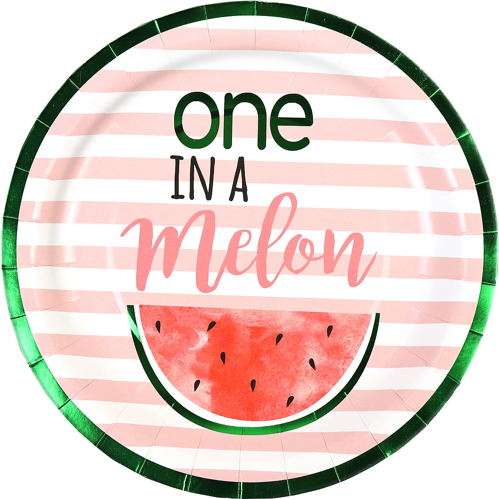 One in a Melon 1st Birthday Lunch Plates, 9in, 8ct Image #1