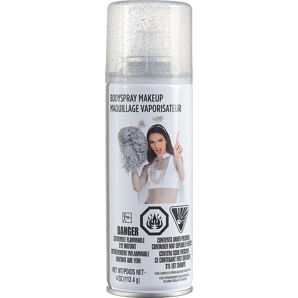 Silver Glitter Body Spray Makeup