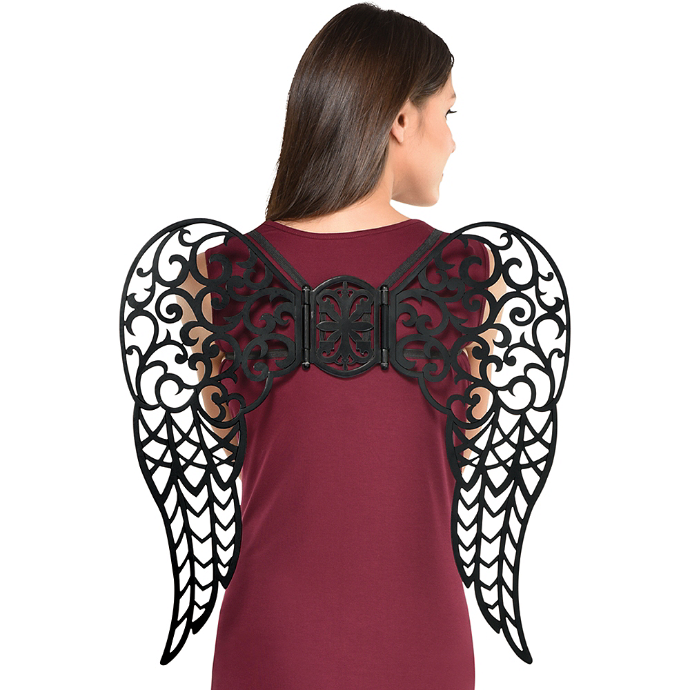Iron Gate Filigree Dark Angel Wings Image #1