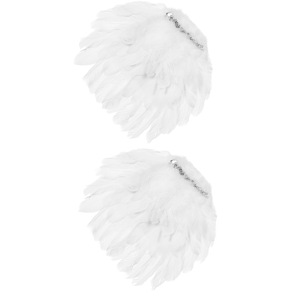 White Feather Angel Shoulder Wings Image #2