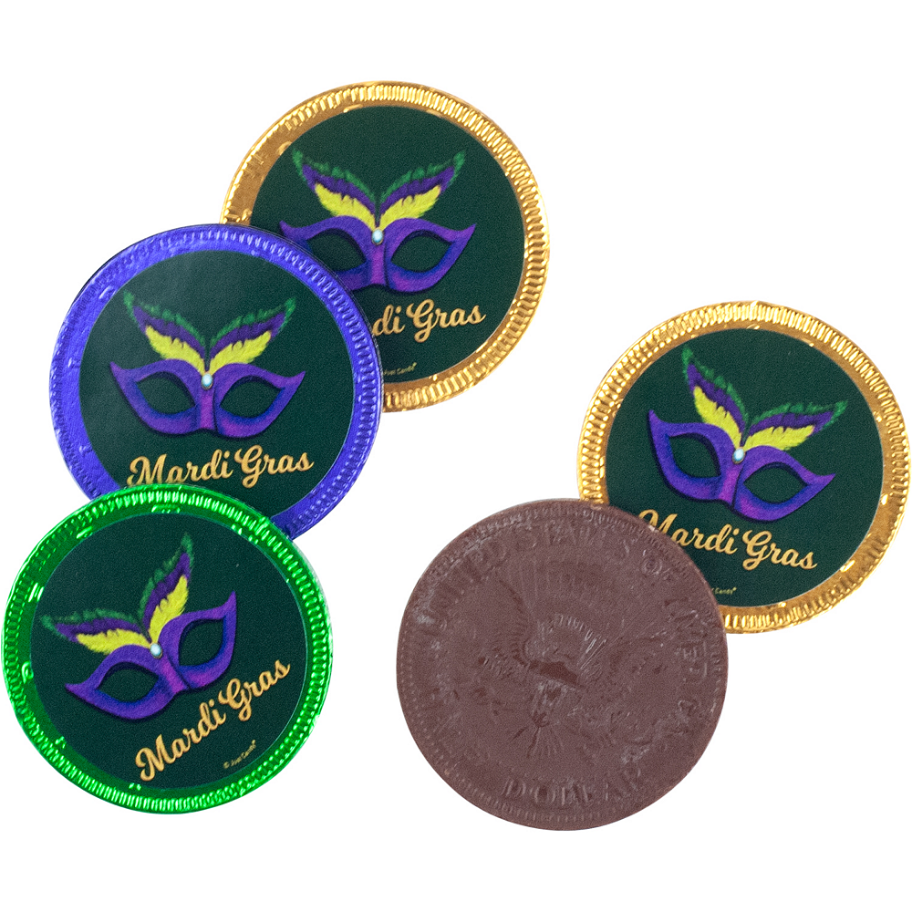 Nav Item for Milk Chocolate Mardi Gras Coins 84ct Image #3