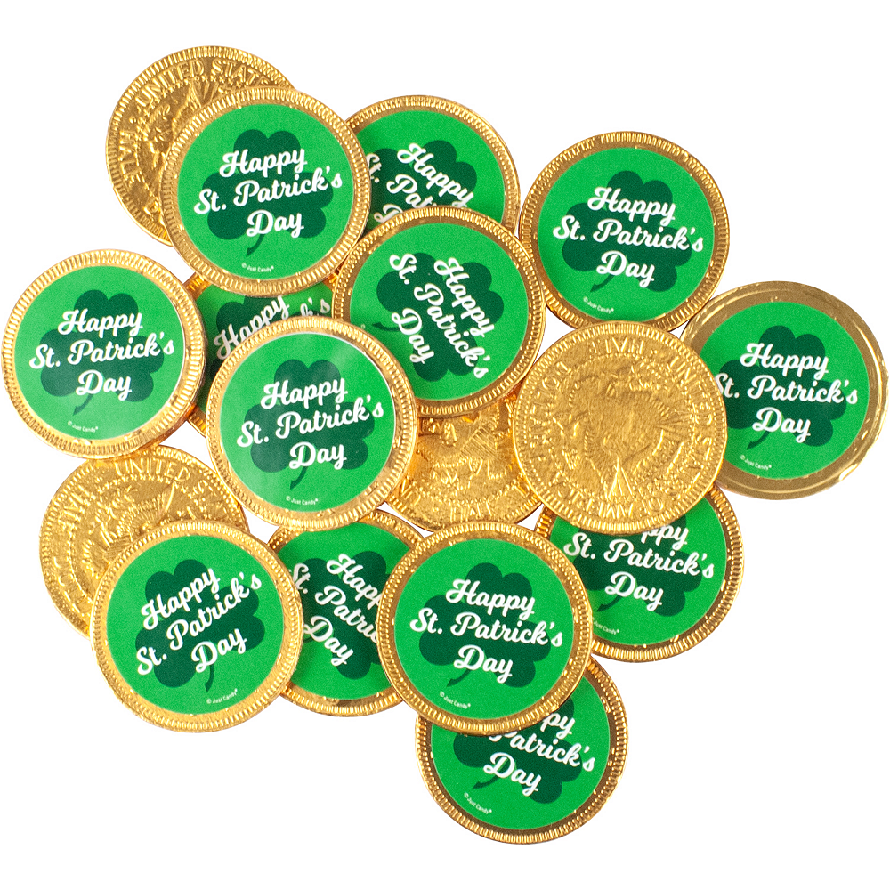Milk Chocolate St. Patrick's Day Coins 84ct Image #1