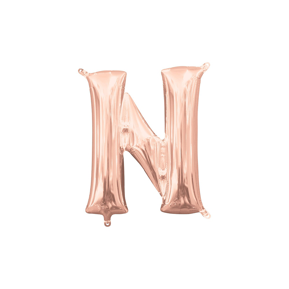 13in Air-Filled Rose Gold No Boys Allowed Letter Balloon Kit Image #8