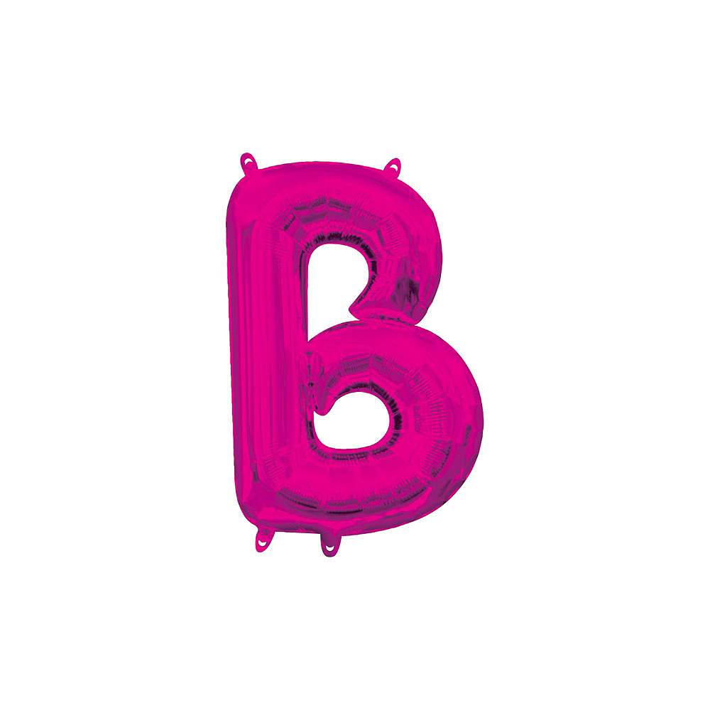 13in Air-Filled Bright Pink No Boys Allowed Letter Balloon Kit Image #4