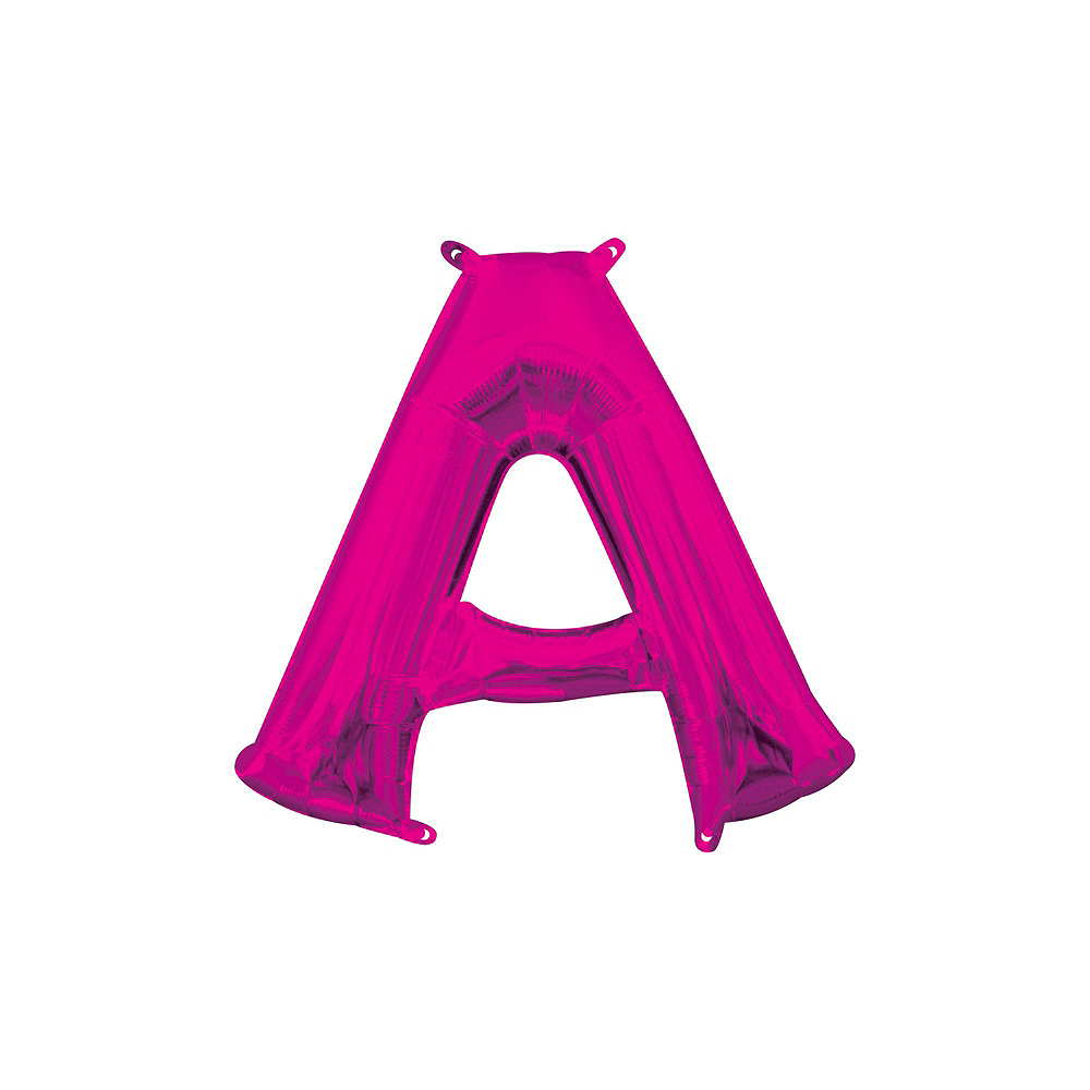 13in Air-Filled Bright Pink No Boys Allowed Letter Balloon Kit Image #7