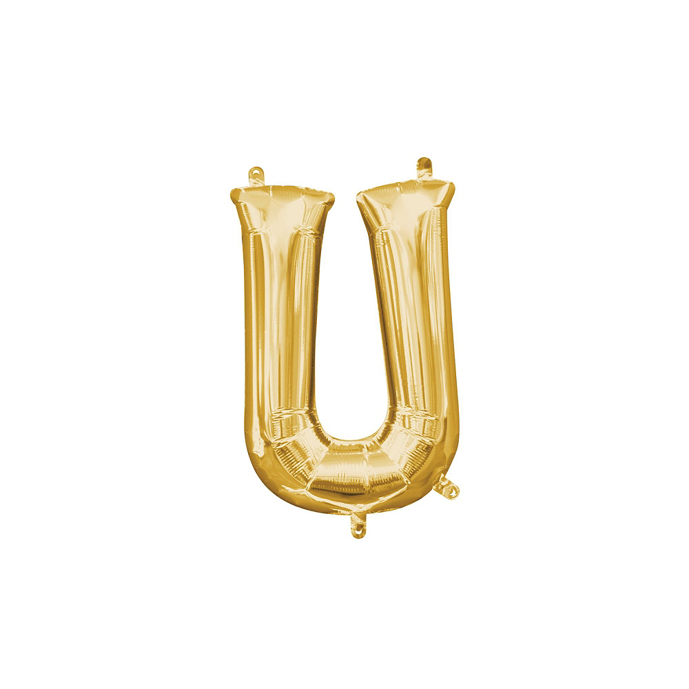13in Air-Filled Gold Me and You Just Us Two Letter Balloon Kit Image #9