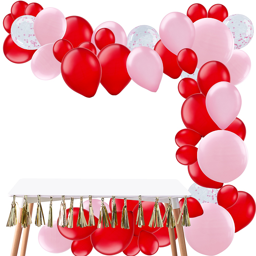 Nav Item for Air-Filled Pink & Red Balloon Garland Kit Image #1
