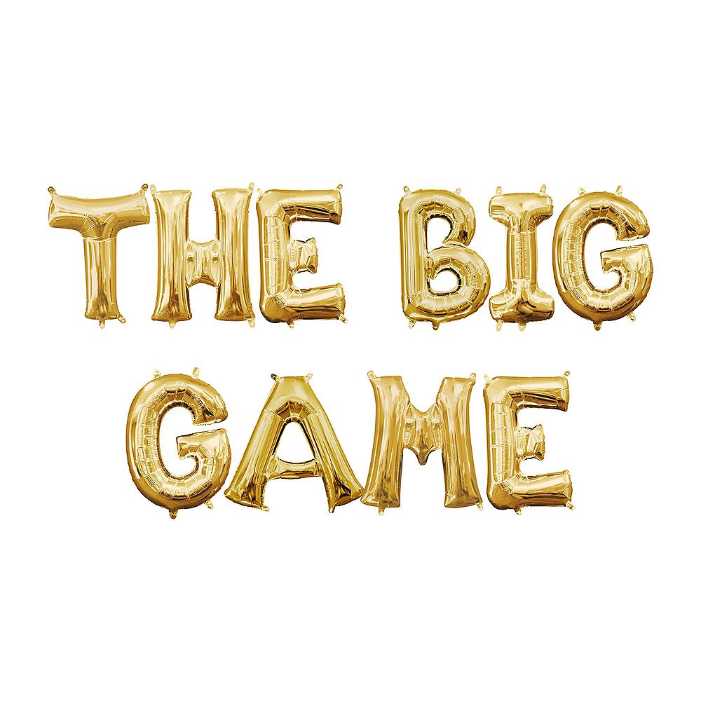 Air-Filled Gold The Big Game Balloon Kit Image #1