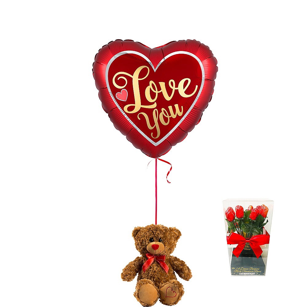 Brown Teddy Bear Valentine's Day Kit Image #1