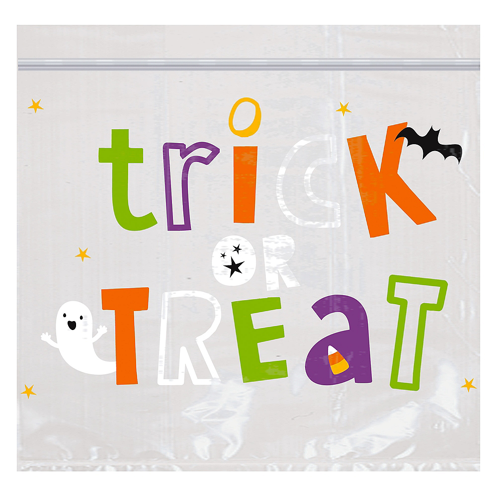 Resealable Halloween Friends Treat Bags, 30ct Image #1