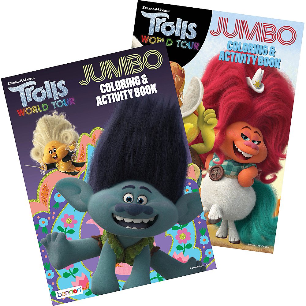 Trolls World Tour Coloring & Activity Book Image #1