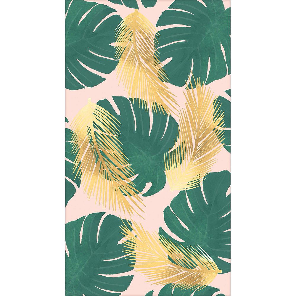 Metallic Tropical Paradise Guest Towels 48ct with Caddy Image #2